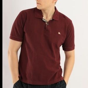 Burberry vintage polo shirt in maroon
